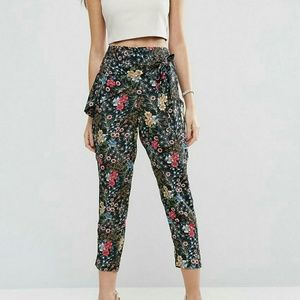 New with tags Asos floral summer pants - size 14